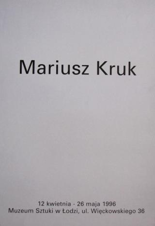 [Plakat] Mariusz Kruk […]