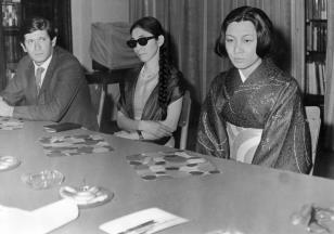 Od lewej [?] Niemirowski, Yoko Filippi, Aiko Miyawaki