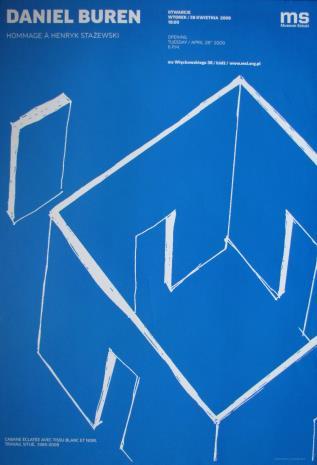 [Plakat] Daniel Buren, Hommage à Henryk Stażewski,  Cabane éclatée avec tissu blanc et noir, travail situé 1985-2009 […]