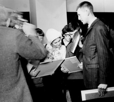 Laureaci konkursu, z lewej Mirosław Woźnica, I nagroda