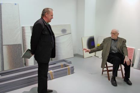 Dariusz Bieńkowski (kolekcjoner) i Wojciech Fangor