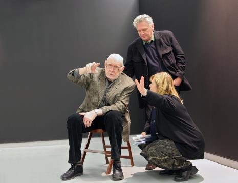 Wojciech Fangor i Dariusz Bieńkowski (kolekcjoner), Maria Morzuch (Dział Sztuki Nowoczesnej)