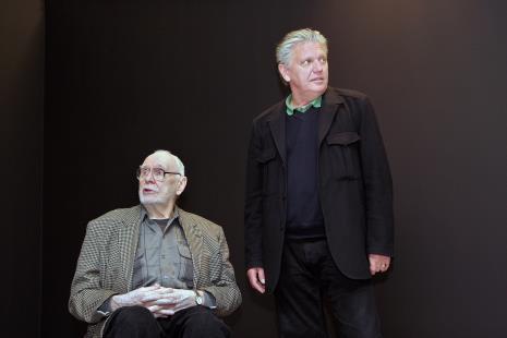 Wojciech Fangor i Dariusz Bieńkowski (kolekcjoner)