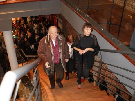 Dyr. Ryszard Czubaczyński (Muzeum Miasta Łodzi) i Małgorzata Ludwisiak (wicedyrektor ms)