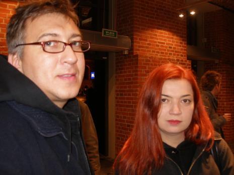 Wojciech Jaros (prezes Banku Żywności w Łodzi), Katarzyna Łukasik (artystka, pedagog PWSSP w Gdańsku)
