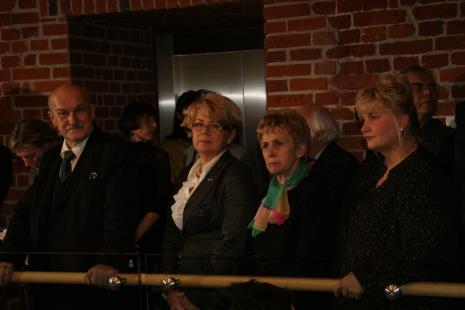 Od lewej Jerzy Kropiwnicki (prezydent Łodzi), wojewoda Jolanta Chełmińska, posłanka Iwona Śledzińska-Katarasińska, wicemarszałek województwa łódzkiego Elżbieta Nawrocka