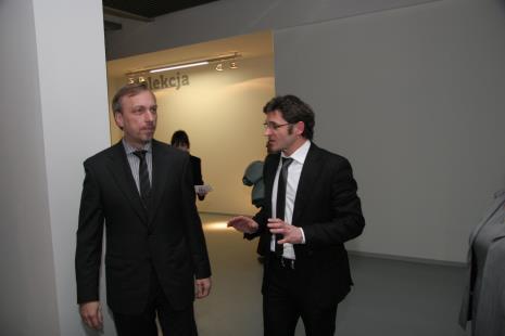 Minister Bohdan Zdrojewski (MKDiN) i dyr. Jarosław Suchan (ms)