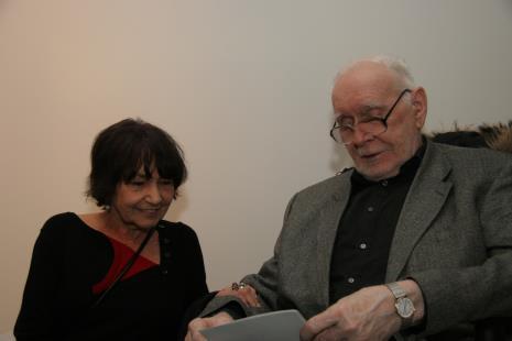 Magdalena Shummer (artystka, żona Wojciecha Fangora) i  Wojciech Fangor