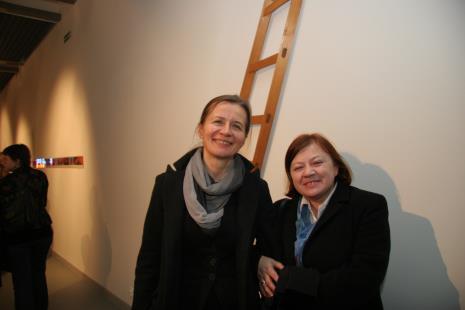 Dyr. Ewa Pilawska (Teatr Powszechny w Łodzi) i dyr. Elżbieta Fuchs (Miejska Galeria Sztuki w Łodzi)