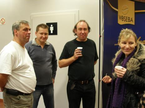 Brygada techniczna ms, od lewej Pior Frącek, Marek Kubacki, Paweł Sosonowski, Bogumiła Terzyjska (Dział Głównego Inwentaryzatora)