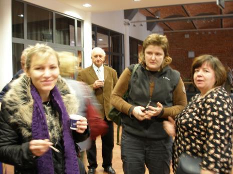 Od lewej Bogumiła Terzyjska (Dział Głównego Inwentaryzatora), Tatiana Matwij i Alicja Legucka (Dział Konserwacji)