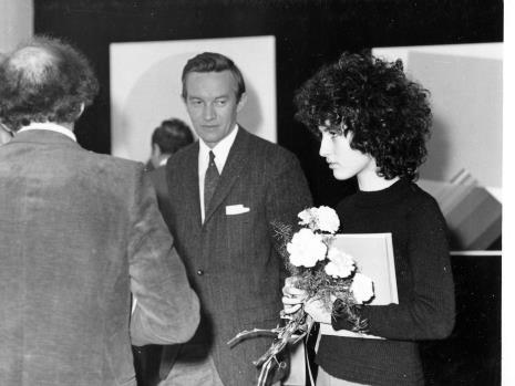 Prof. Janusz Hereźniak (Uniwersytet Łódzki i Łódzkie Towarzystwo Fotograficzne) i córka Eugenio Carmiego