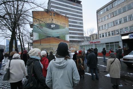 Wycieczka dla uczestników otwarcia ms2 śladem łódzkich murali