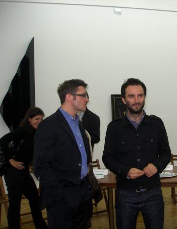 Kuratorzy wystawy dyr. Jarosław Suchan (ms) i Andrzej Przywara