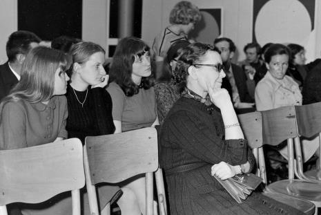 Publiczność na spotkaniu z artystą