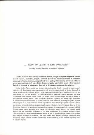 Günther Uecker : Człowiek i popiół = man and ashes