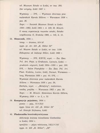 Karol Hiller 1891-1939 : katalog wystawy kwiecień 1967.