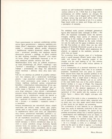 Marek Chlanda - rzeźby, reliefy, rysunki : [katalog wystawy], Muzeum Sztuki w Łodzi, lipiec - sierpień 1985