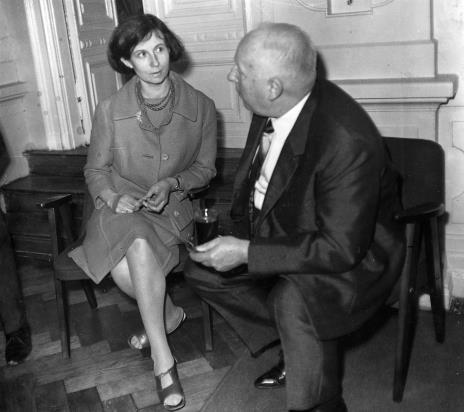 Urszula Czartoryska (Dział Fotografii i Technik Wizualnych) w rozmowie z prof. Juliuszem Starzyńskim