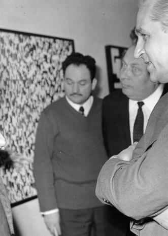 Z lewej red. Henryk Pawlak (Express Ilustrowany), z prawej Bolesław Koperski (I sekretarz Komitetu Łódzkiego PZPR)