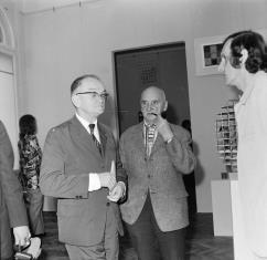 Od lewej prof. Adam Marczyński (UMK w Toruniu), Henryk Stażewski, Zbigniew Gostomski