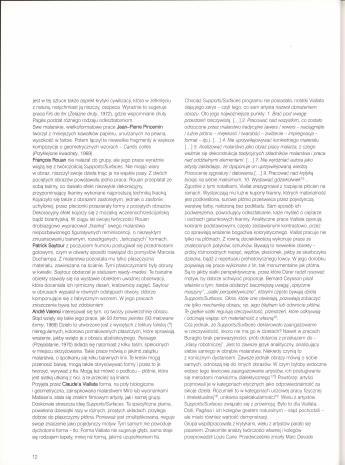 Lata Supports/Surfaces. Wystawa z kolekcji Centre Georges Pompidou  17 marca 1999 - 9 maja 1999