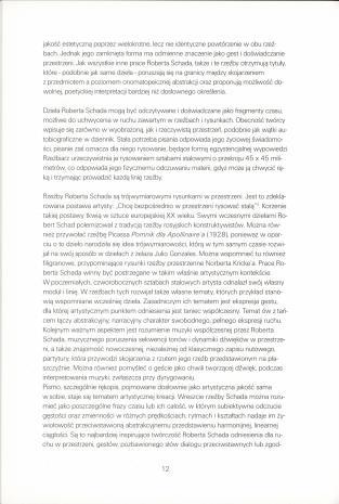 Robert Schad - Taniec : rzeźby i rysunki : Muzeum Sztuki w Łodzi, 25.11.1999 - 9.01.2000