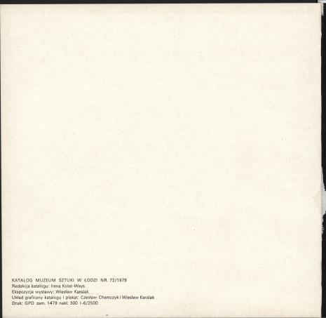 Wiesław Karolak - formy znane, formy wyobrażone : wystawa zorganizowana z okazji Międzynarodowego Roku Dziecka, Muzeum Sztuki w Łodzi, ul. Więckowskiego 36, 15 grudnia 1978 - 15 stycznia 1979