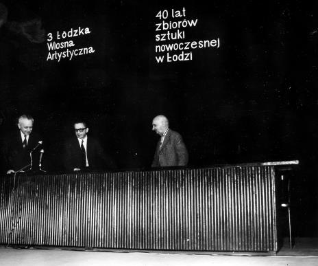 Otwarcie sesji, Jan Brzękowski, dyr. Ryszard Stanisławski, Henryk Stażewski
