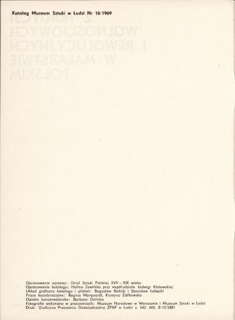 Z tradycji wolnościowych i rewolucyjnych w malarstwie polskim : wystawa z okazji XXV-lecia PRL