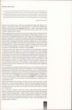 Zbigniew Gostomski : stan rzeczy = Zbigniew Gostomski : (the state of affairs)