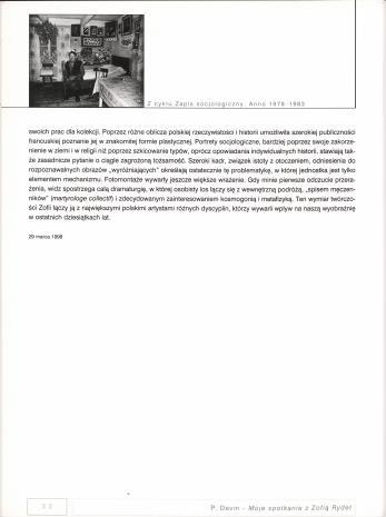 Zofia Rydet (1911-1997) : fotografie : Muzeum Sztuki w Łodzi : 2 czerwca 1999 - 31 lipca 1999
