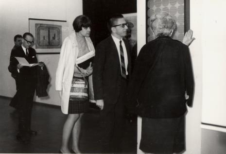 Od lewej red. Roman Janisławski (PAP), red. Henryka Rumowska (TV), dyr. Ryszard Stanisławski