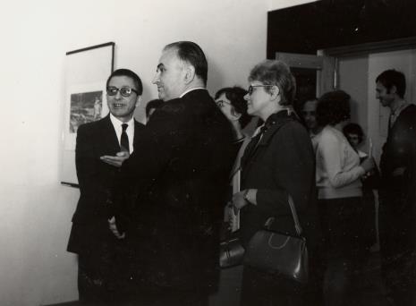 od lewej dyr. Ryszard Stanisławski, Ryszard Stefańczyk, Danuta Chyba-Chybowicz (Dział Naukowo - Oświatowy), z prawej Jerzy Weinberg (Dział Naukowo - Oświatowy)