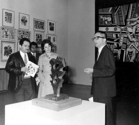 Od lewej red. Henryk Pawlak (Express Ilustrowany), Petr Hartmann (Národni Galerie Praha), red. Lucyna Hoszowska (Dziennik Łódzki), dyr. Ryszard Stanisławski (ms)