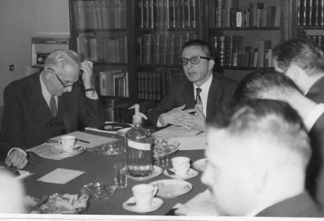 Od lewej prof. Ksawery Piwocki, dyr. Ryszard Stanisławski