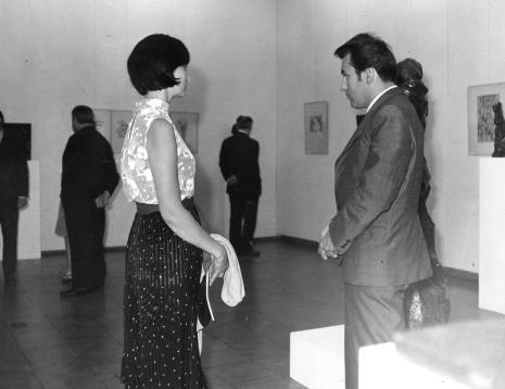 Urszula Czartoryska (Dział Fotografii i Technik Wizualnych) i Petr Hartmann (Národni Galerie Praha)
