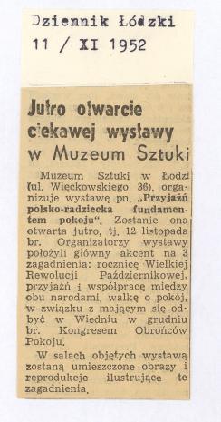 Jutro otwarcie ciekawej wystawy [...]