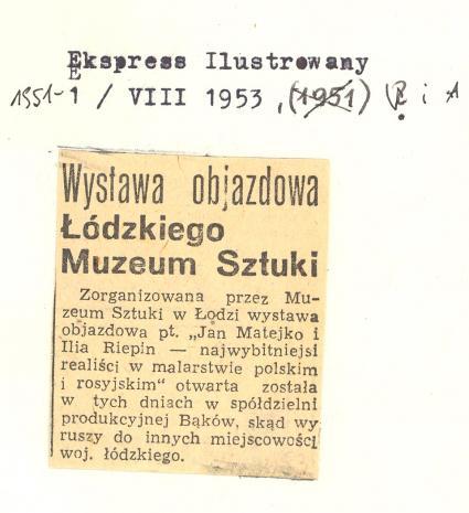 Wystawa objazdowa Łódzkiego Muzeum Sztuki