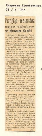 Przegląd malarstwa rosyjsko-radzieckiego w Muzeum Sztuki