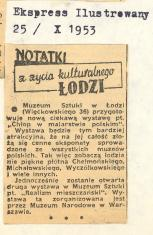 Muzeum Sztuki (ul.Więckowskiego 36) przygotowuje nową ciekawą wystawę pt.