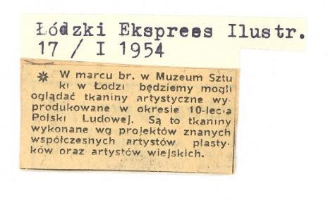 W marcu br. w Muzeum Sztuki w Łodzi będziemy mogli oglądać [...]