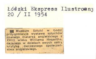 Muzeum Sztuki w Łodzi przygotowuje wystawę sztychów [...]