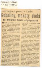 Interesujący pokaz w Łodzi. Gobeliny, makaty, druki na wystawie tkanin artystycznych