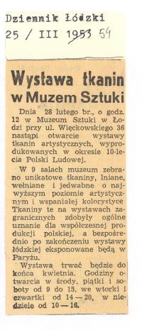 Wystawa tkanin w Muzeum Sztuki