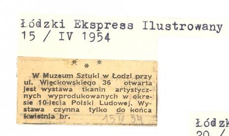 W Muzeum Sztuki w Łodzi przy ul.Więckowskiego 36 [...]