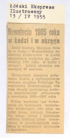Rewolucja 1905 roku w Łodzi i w okręgu