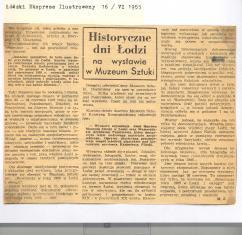 Historyczne dni Łodzi na wystawie w Muzeum Sztuki