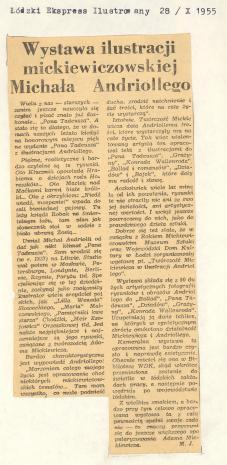 Wystawa ilustracji mickiewiczowskiej Michała Andriollego