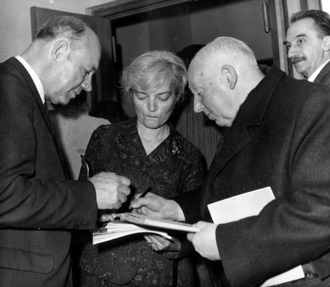 Halina Zawilska (Dział Sztuki Polskiej), Apoloniusz Zawilski (literat), prof. Juliusz Starzyński, Jerzy Krassowski